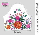 embroidery flower set in sleeve ... | Shutterstock .eps vector #1016856667