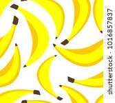 seamless pattern with bananas | Shutterstock .eps vector #1016857837