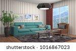 interior living room. 3d... | Shutterstock . vector #1016867023