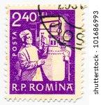 romania   circa 1960  a stamp... | Shutterstock . vector #101686993
