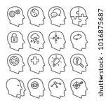 psychology line vector icons... | Shutterstock .eps vector #1016875687