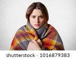 horizontal shot of pretty young ... | Shutterstock . vector #1016879383
