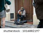 paris  france   january 03 ... | Shutterstock . vector #1016882197