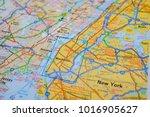 new york map background | Shutterstock . vector #1016905627