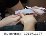manicure artificial nails | Shutterstock . vector #1016911177