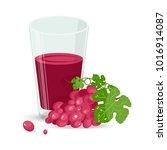 fresh grape and fresh grape...   Shutterstock .eps vector #1016914087
