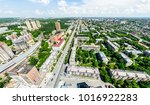 aerial city view with... | Shutterstock . vector #1016922283