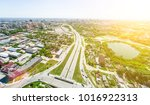 aerial city view with... | Shutterstock . vector #1016922313