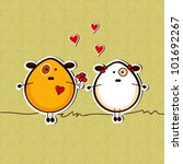 love card with funny dogs | Shutterstock .eps vector #101692267