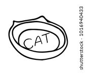 bowl for cats vector... | Shutterstock .eps vector #1016940433
