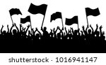 applause crowd silhouette ... | Shutterstock .eps vector #1016941147