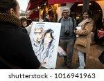 paris  france   january 02 ... | Shutterstock . vector #1016941963