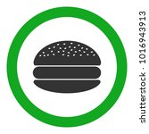 eatery sign. hamburger icon in... | Shutterstock .eps vector #1016943913