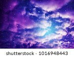 space of night sky with cloud... | Shutterstock . vector #1016948443