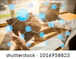 automation concept as an... | Shutterstock . vector #1016958823