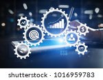 business process concept on... | Shutterstock . vector #1016959783
