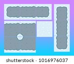 tower defence construction pack | Shutterstock .eps vector #1016976037