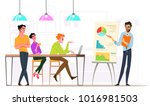 business characters in... | Shutterstock .eps vector #1016981503