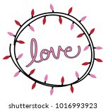 happy valentines day lights | Shutterstock .eps vector #1016993923
