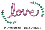 happy valentines day lettering | Shutterstock . vector #1016998387