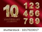 anniversary  aniversary  10... | Shutterstock .eps vector #1017023017