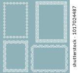 set of white frames isolated on ... | Shutterstock .eps vector #1017024487