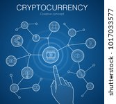 line cryptocurrency creative... | Shutterstock .eps vector #1017033577