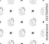 cute hand drawn nursery...   Shutterstock .eps vector #1017034963