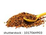 bee pollen propolis with spoon | Shutterstock . vector #1017064903