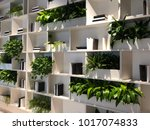 green space plant and book wall ... | Shutterstock . vector #1017074833