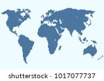 dotted abstract world map | Shutterstock .eps vector #1017077737