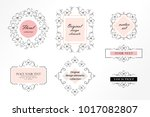 set of flourish frames  borders ... | Shutterstock .eps vector #1017082807