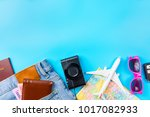 travel accessories costumes... | Shutterstock . vector #1017082933