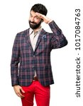 well dressed man saluting on... | Shutterstock . vector #1017084763