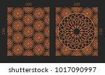 laser cutting set. woodcut... | Shutterstock .eps vector #1017090997