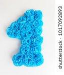big paper number one  handmade...   Shutterstock . vector #1017092893