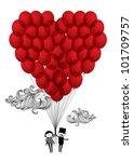 heart balloons vector... | Shutterstock .eps vector #101709757