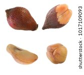 Small photo of set of salak isolated