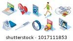 isometric digital medicine set... | Shutterstock .eps vector #1017111853