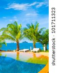 blue luxury holiday lifestyle | Shutterstock . vector #101711323