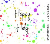 happy holi bright colorful... | Shutterstock .eps vector #1017115657