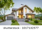 3d rendering of modern cozy...   Shutterstock . vector #1017132577