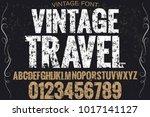 vintage font typeface...   Shutterstock .eps vector #1017141127