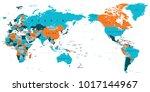 political world map pacific... | Shutterstock .eps vector #1017144967
