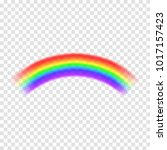 transparent vector rainbow... | Shutterstock .eps vector #1017157423