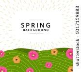 spring summer background... | Shutterstock .eps vector #1017159883