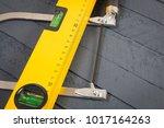 yellow construction bubble... | Shutterstock . vector #1017164263