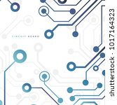 circuit board  technology...   Shutterstock .eps vector #1017164323