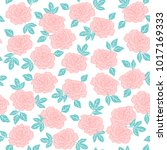 rose hand drawn floral vector... | Shutterstock .eps vector #1017169333