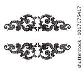 classical baroque vector of... | Shutterstock .eps vector #1017175417